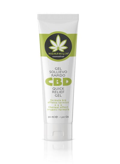 gel sollievo rapido - olio di cbd - cannabis light - erba legale - dolori - infiammazioni